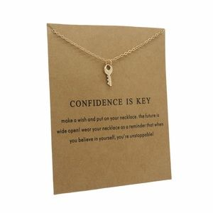 Confidence Is Key Pendant Necklace